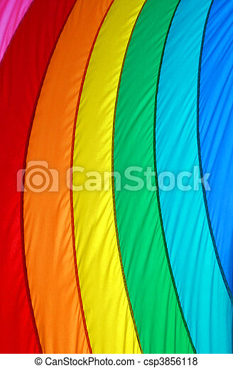Gay Pride Flag Vertical Stripes - csp3856118