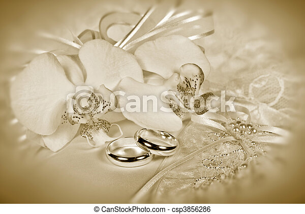 sepia, matrimonio - csp3856286