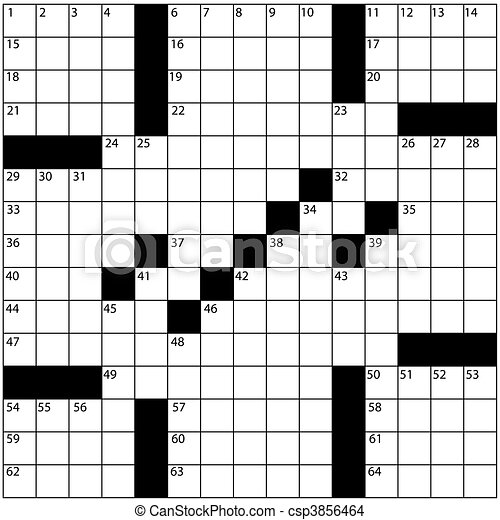 Large newspaper style crossword puzzle grid numbers - csp3856464