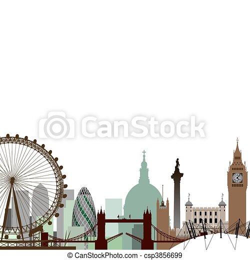London Cityscape - csp3856699