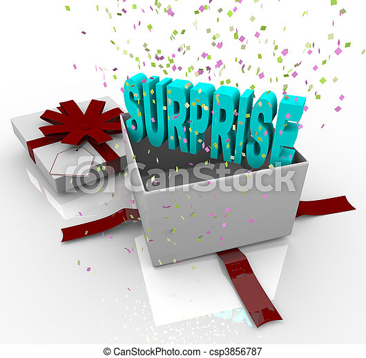 Surprise Present - Happy Birthday Gift Box - csp3856787