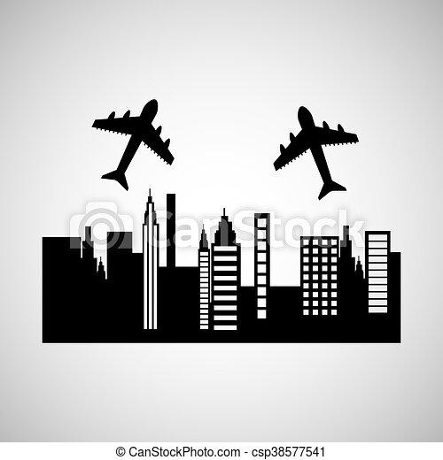 travel transportation airplane - csp38577541