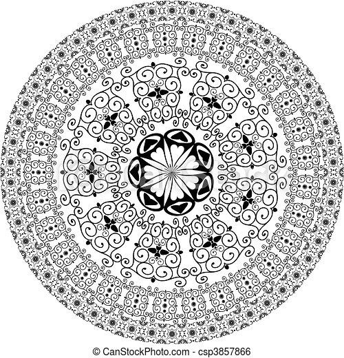 arabesque pattern round - csp3857866