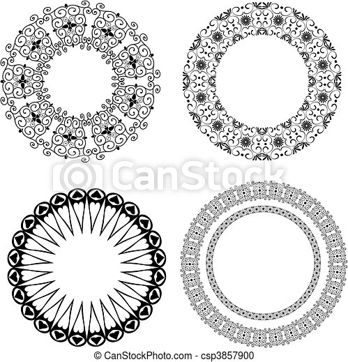 Baroque pattern of round - csp3857900