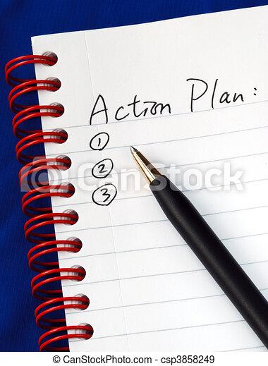 Prepare the action plan  - csp3858249
