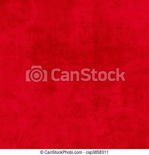 Crazy Summer Textured Red Solid Background - csp3858311