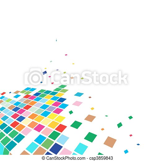 abstract mosaic vector composition - csp3859843