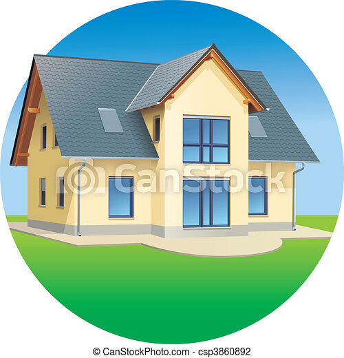 House - Real estates - residential  - csp3860892