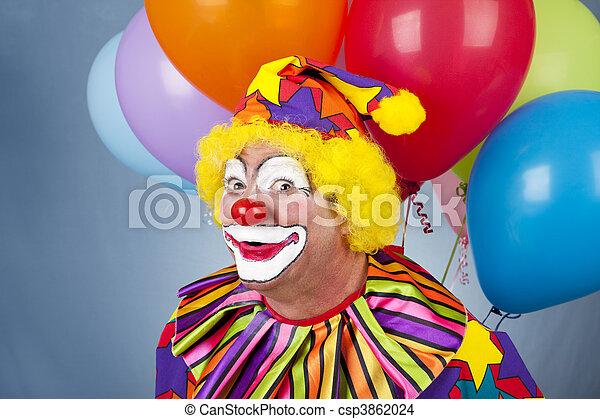 Funny Birthday Clown - csp3862024