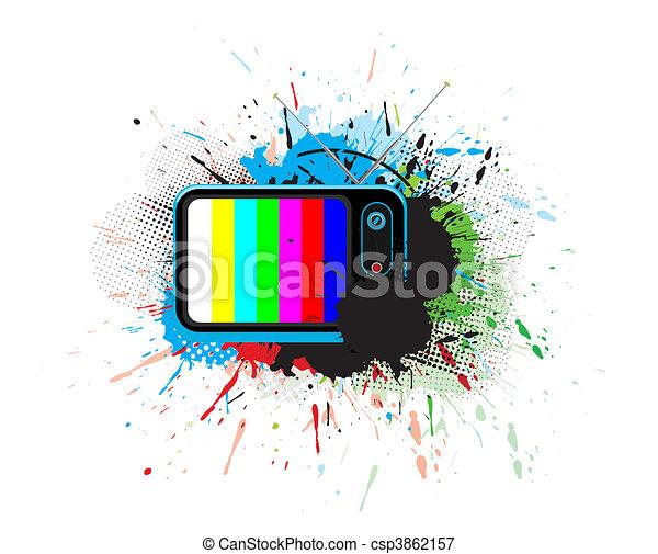 Retro television - csp3862157