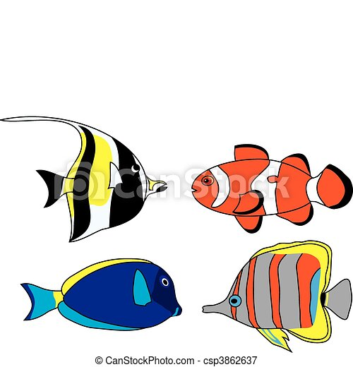 Tropical fish set - csp3862637