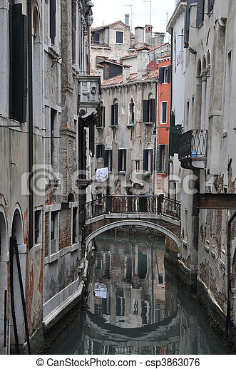 One of the streets of Venice. - csp3863076