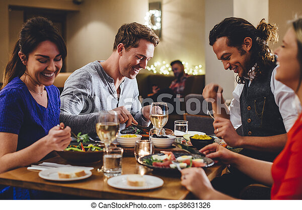 Double Date Dining - csp38631326