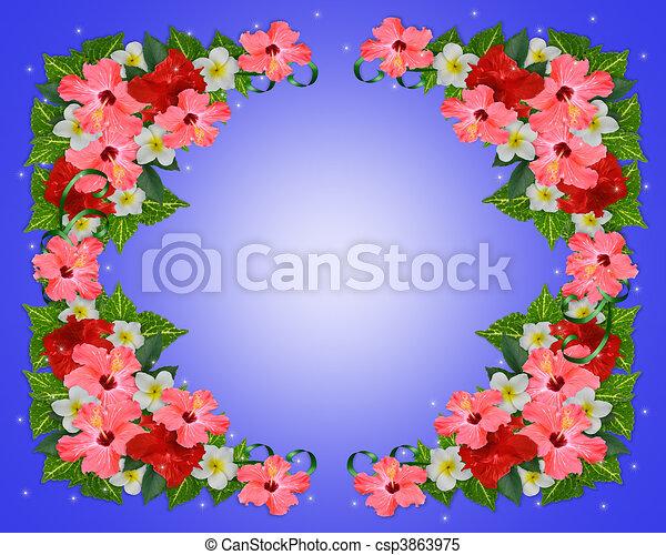 Stock De Ilustraciones   Tropical  Flores  Plano De Fondo   Stock De