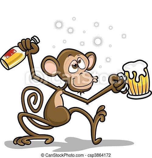 Drunk Monkey - csp3864172