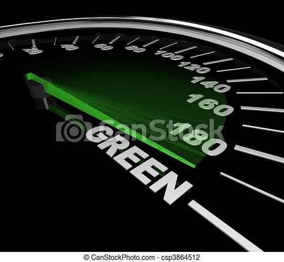 clip art de voiture vert compteur vitesse les aiguille sur a csp3864512. Black Bedroom Furniture Sets. Home Design Ideas