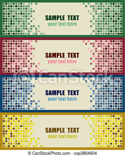 Abstract tiles background - csp3864604