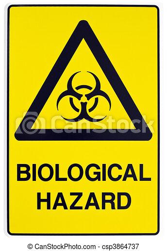 Biological hazard warning sign - csp3864737