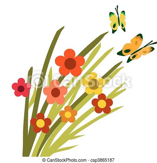 illustrations vectoris u00e9es de papillons  fleur  fleur springtime clipart for instagram springtime clipart for adult coloring pages