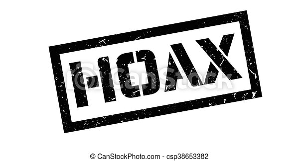 Hoax rubber stamp - csp38653382