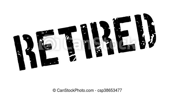 Stock Illustration of RETIRED Rubber Stamp over a white background ...