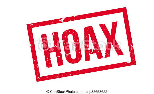 Hoax rubber stamp - csp38653622
