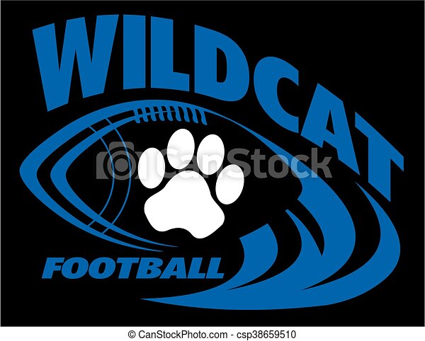 Vector Clip Art Of Wildcat Football Team Design With