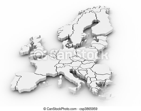 map of europe - csp3865959