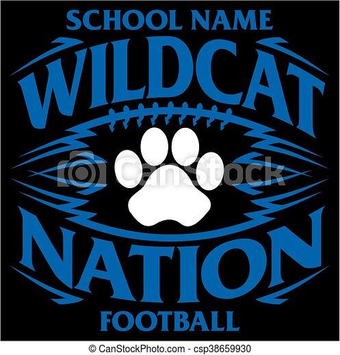 Vectors Of Wildcat Football Wildcat Nation Football Team