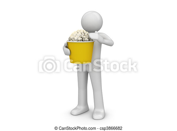 Popcorn eater - Lifestyle collection - csp3866682