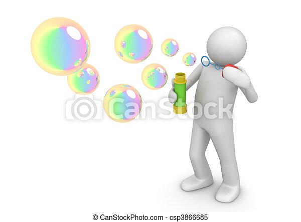 Soap bubbles - Lifestyle collection - csp3866685