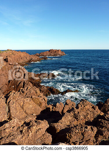 Esterel massif, France - csp3866905