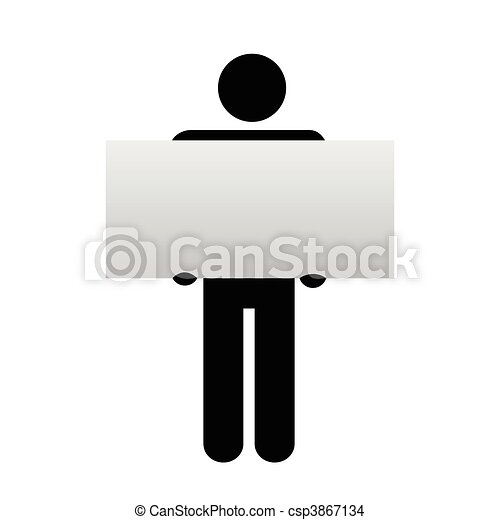Figure and sign - csp3867134