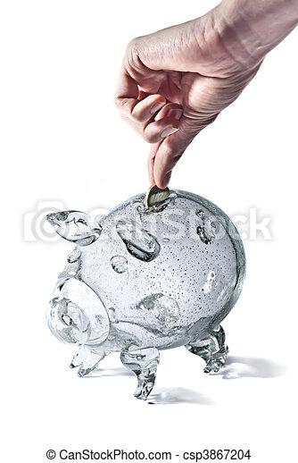Piggy bank - csp3867204