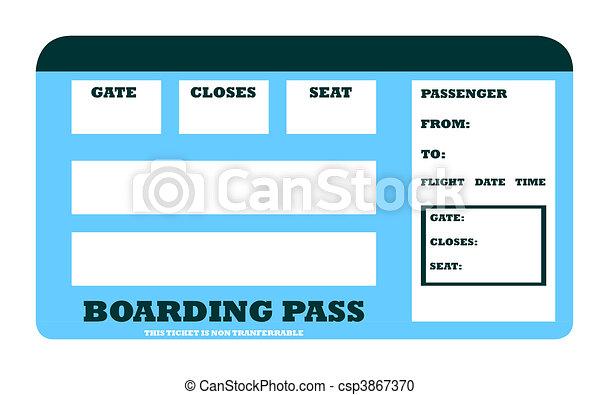 Blank aircraft boarding pass - csp3867370