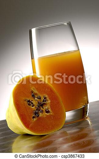 Papaya juice  - csp3867433