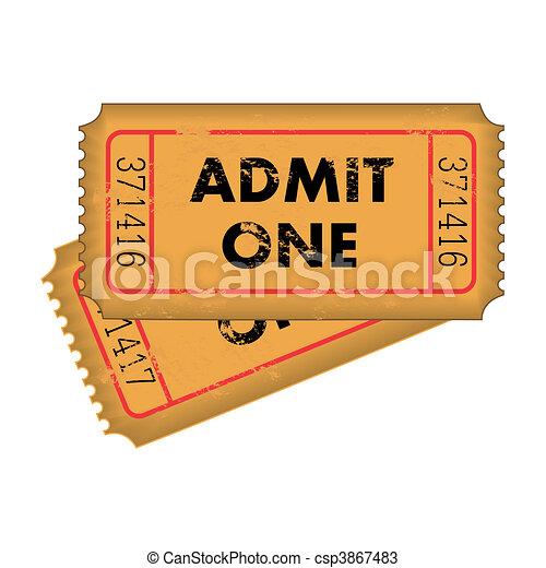 Grunge Tickets - csp3867483