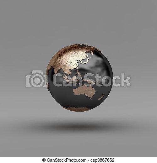Asia and Australia - csp3867652