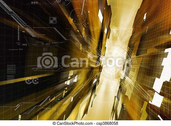 Hitech Background - csp3868058