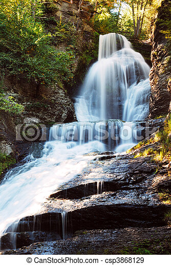 Waterfall in mountain - csp3868129
