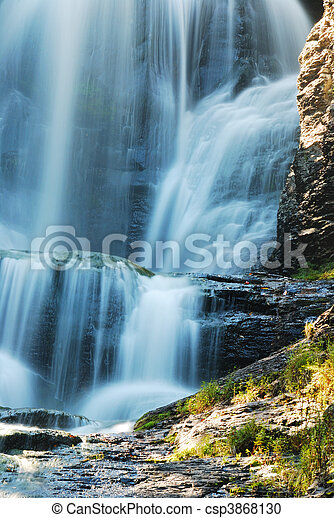 Waterfall and rocks - csp3868130
