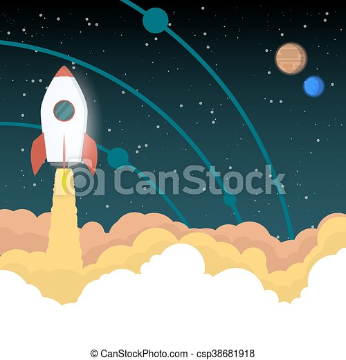 Rocket goes to space - csp38681918
