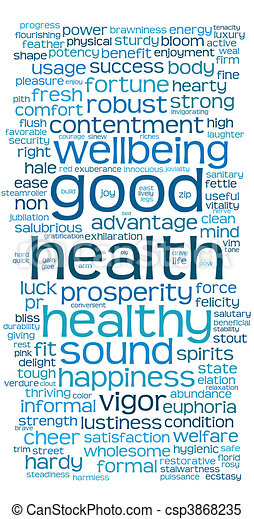 good health word or tag cloud - csp3868235