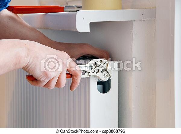 plumber wrench - csp3868796