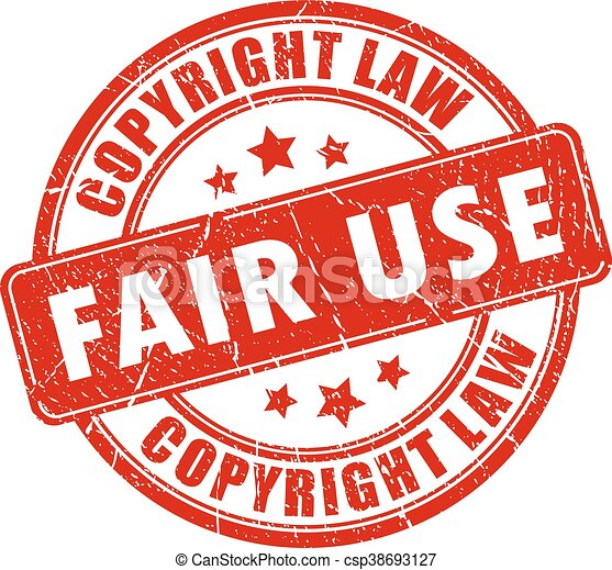 Vector Illustration of Fair use copyright rubber stamp isolated on ...