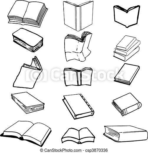 Set of books comic - csp3870336