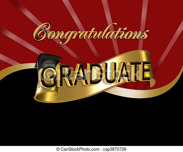 Congratulations Graduate graphic - csp3870726