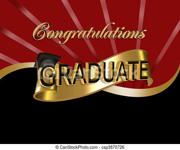 felicitaciones, gráfico, graduado - csp3870726