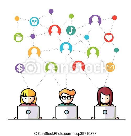 Social Media network people - csp38710377
