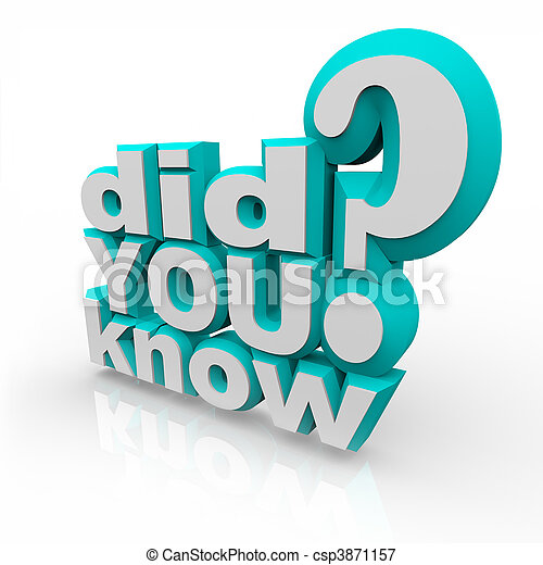 Did You Know - 3D Words - csp3871157